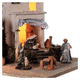 Arab village (F) terracotta figurines and animals 8 cm average height for Neapolitan Nativity Scene 35x35x35 cm s2