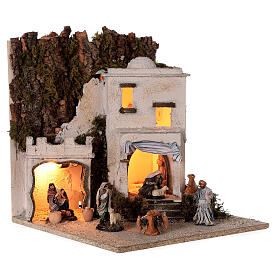Arab village (F) terracotta figurines and animals 8 cm average height for Neapolitan Nativity Scene 35x35x35 cm s4