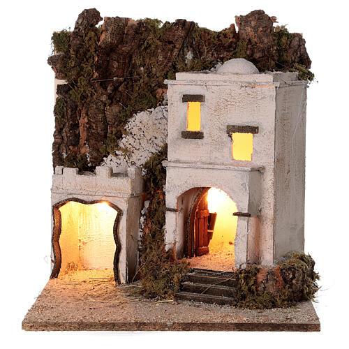 Arab village (F) terracotta figurines and animals 8 cm average height for Neapolitan Nativity Scene 35x35x35 cm 5