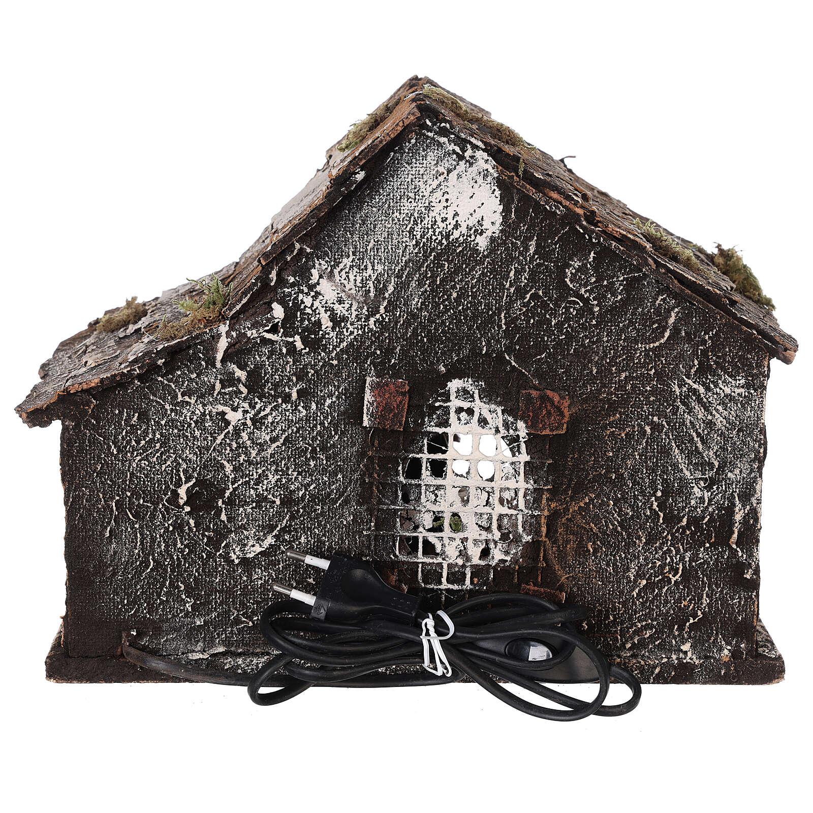 Cabane crèche napolitaine santons terre cuite 12 cm 25x30x20 cm 4