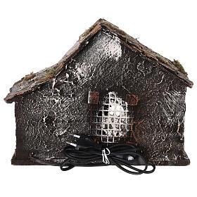 Cabane crèche napolitaine santons terre cuite 12 cm 25x30x20 cm s5