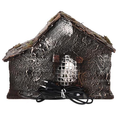 Cabane crèche napolitaine santons terre cuite 12 cm 25x30x20 cm 5