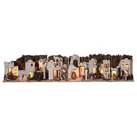 Presepe completo arabo modulare 45x210x35 statue terracotta 8 cm presepe napoletano s1