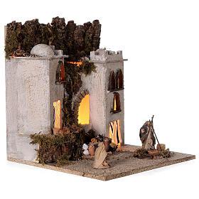 Presepe completo arabo modulare 45x210x35 statue terracotta 8 cm presepe napoletano s6
