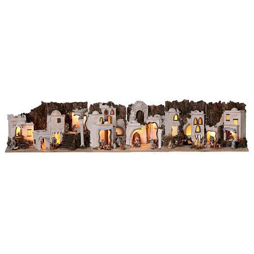 Presepe completo arabo modulare 45x210x35 statue terracotta 8 cm presepe napoletano 1