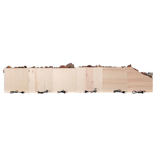 Presepe completo arabo modulare 45x210x35 statue terracotta 8 cm presepe napoletano 8
