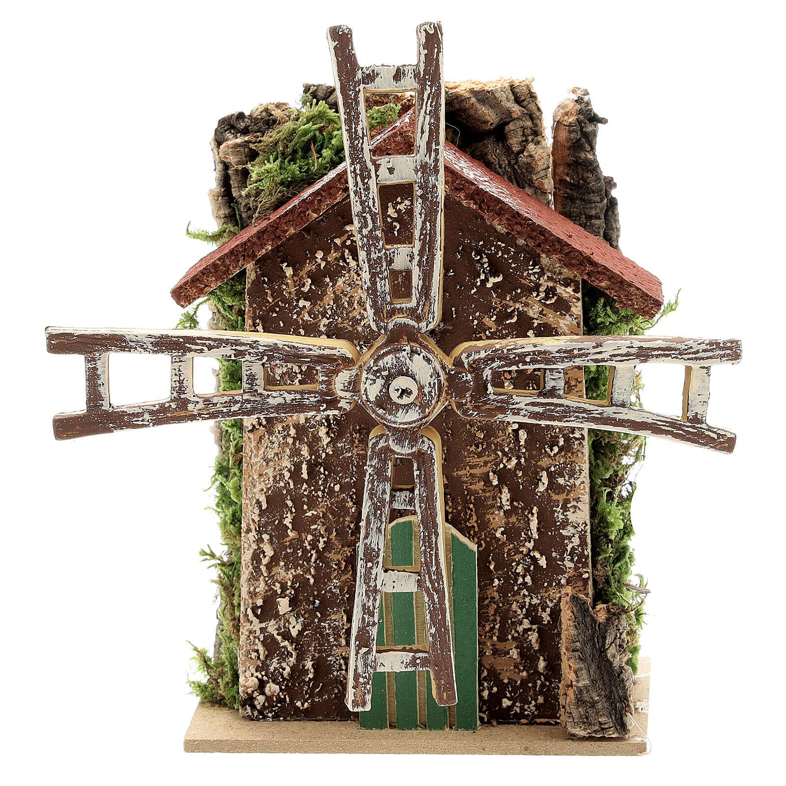 Moulin à vent avec mouvement 10x5x15 cm 4
