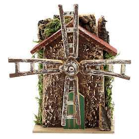 Moulin à vent avec mouvement 10x5x15 cm s1