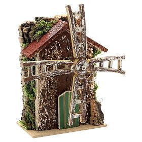 Moulin à vent avec mouvement 10x5x15 cm s3