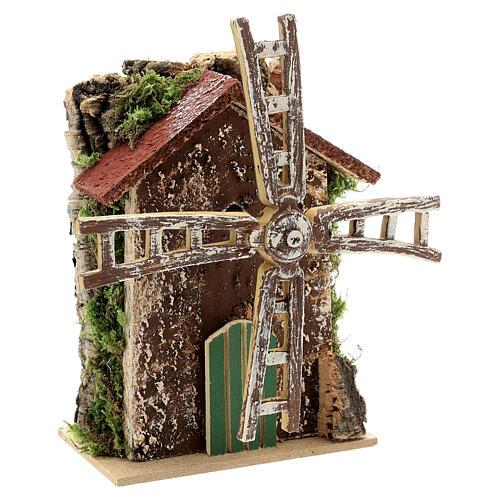 Moulin à vent avec mouvement 10x5x15 cm 3