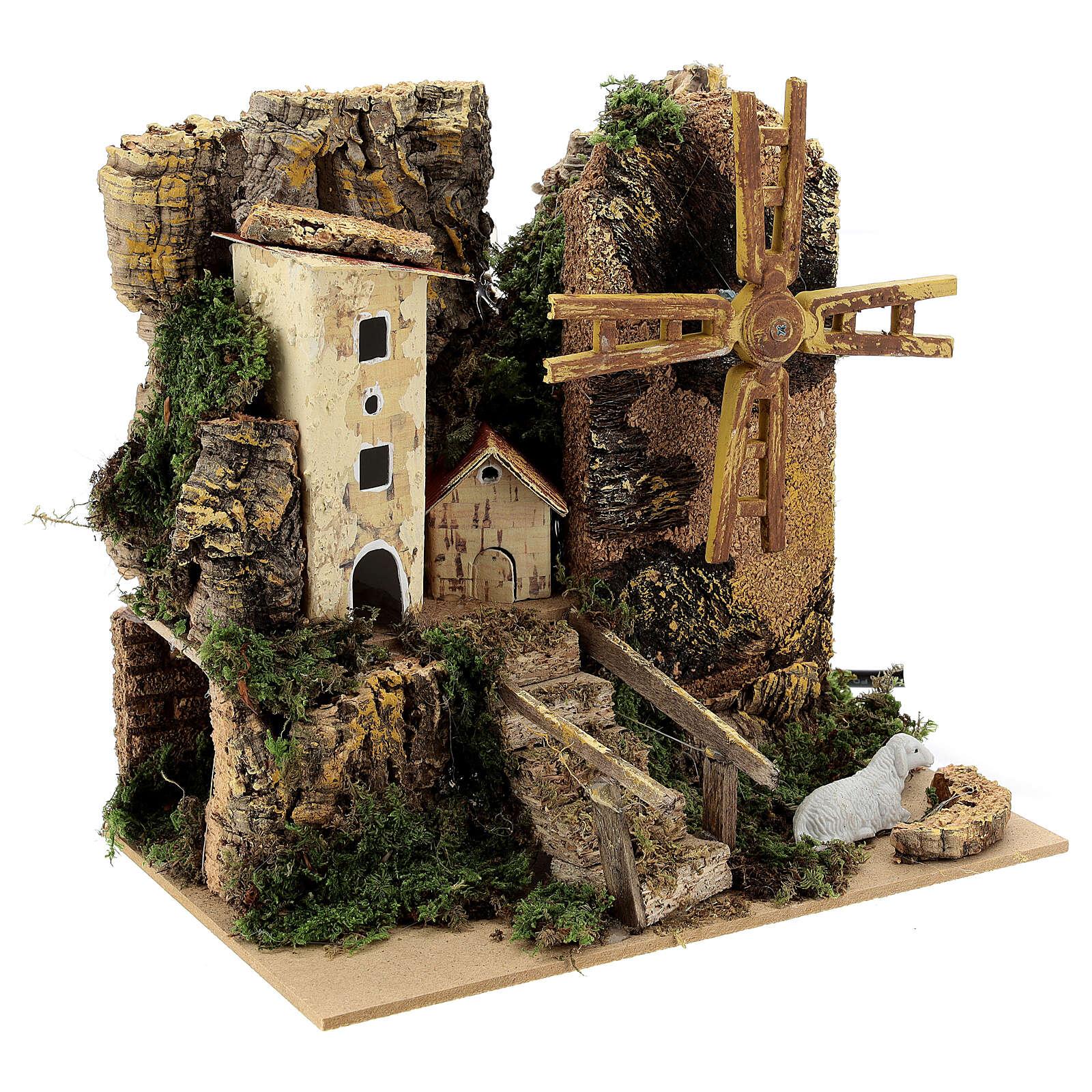 Windmill cottage 20x15x20 cm movement 4