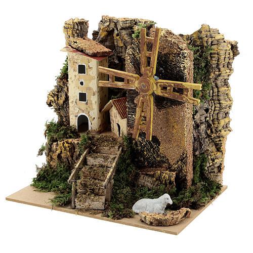 Windmill cottage 20x15x20 cm movement 2