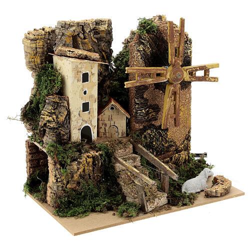 Windmill cottage 20x15x20 cm movement 3
