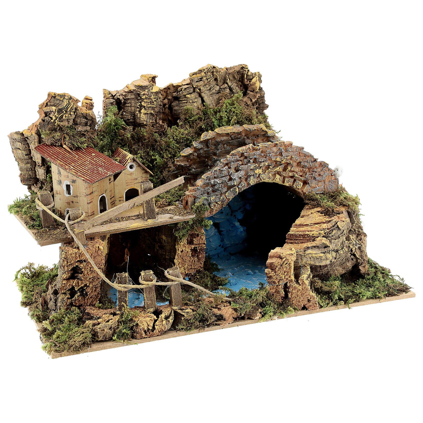 Puente y lago cm 20x30x15 belenes 6 cm 4