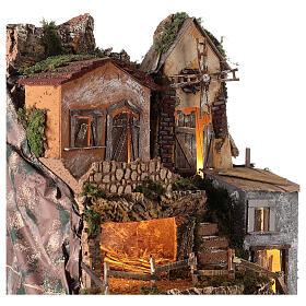 Borgo capanna mulino vento 70x55x50 cm presepi 10 cm MOD. D s2