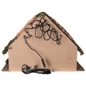 Illuminated manger stable, 14 cm nativity 35x50x25 cm s4