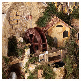 Watermill sheep nativity village 25x25x20 cm for 6 cm figures s2