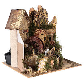 Watermill sheep nativity village 25x25x20 cm for 6 cm figures s4