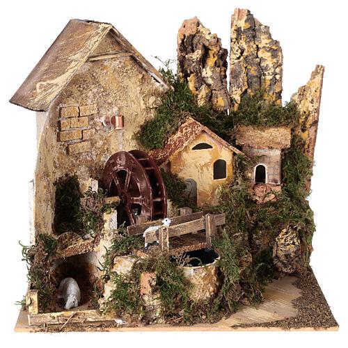 Watermill sheep nativity village 25x25x20 cm for 6 cm figures 1