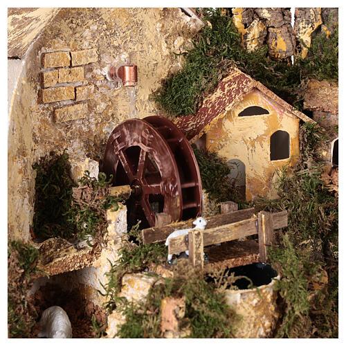 Watermill sheep nativity village 25x25x20 cm for 6 cm figures 2