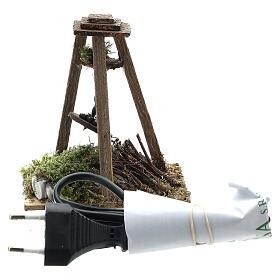 Fuoco presepe 10-12 cm castagne lampada eff fiamma 10x10x5 cm s4