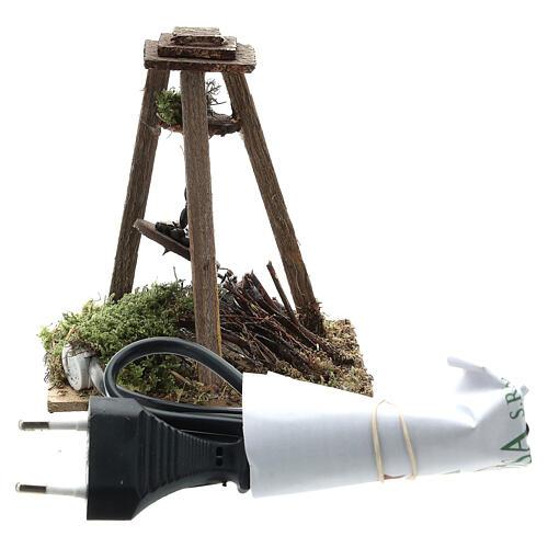 Fuoco presepe 10-12 cm castagne lampada eff fiamma 10x10x5 cm 4
