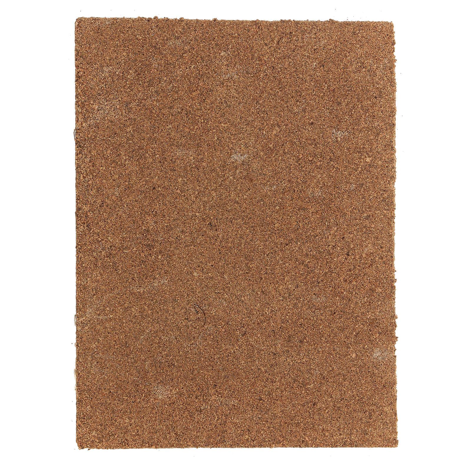 Panneau liège crèche type écorce naturelle 33x25x1 cm 4