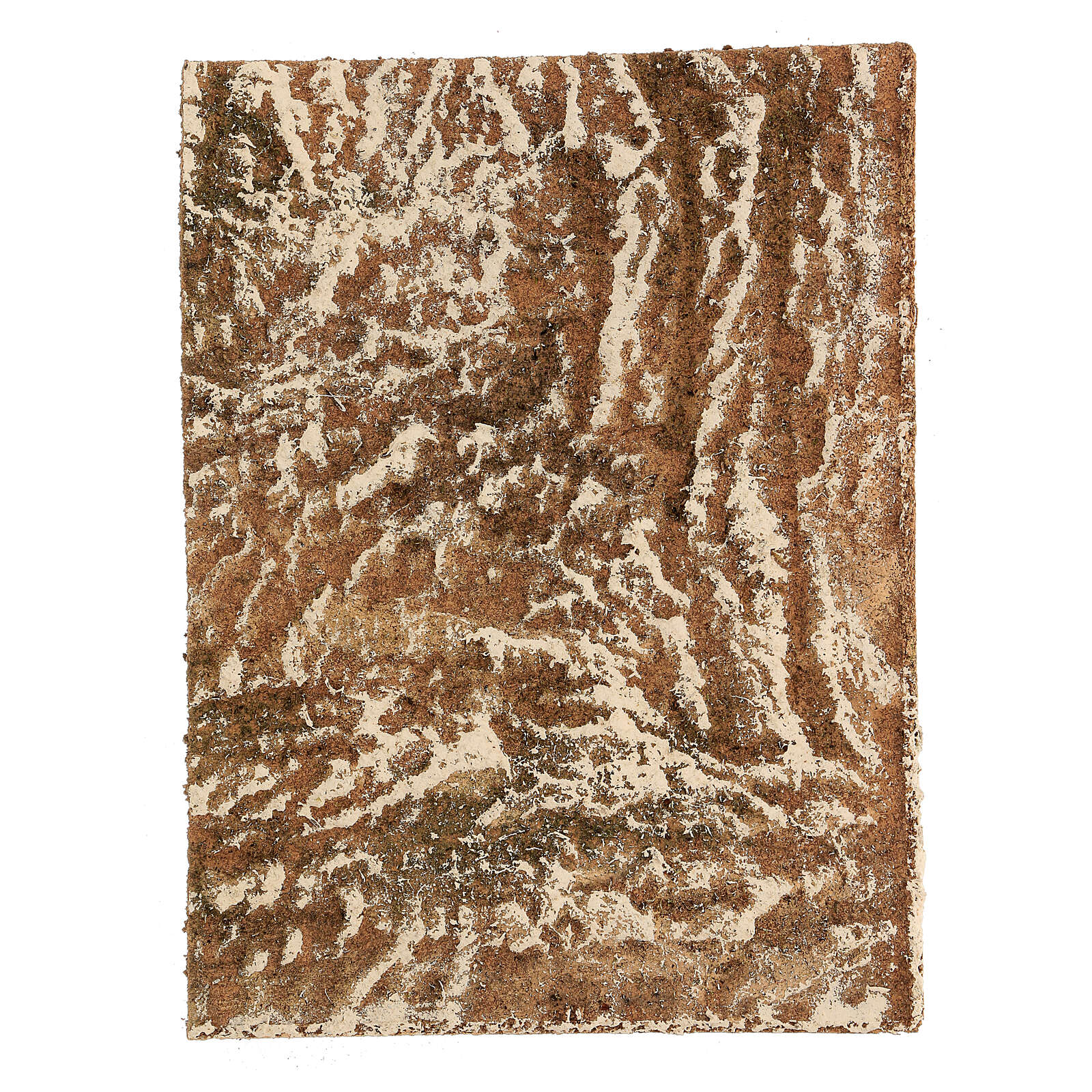 Pannello sughero presepe tipo corteccia naturale 33x25x1 cm 4