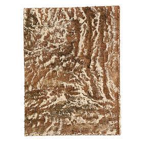 Pannello sughero presepe tipo corteccia naturale 33x25x1 cm s1