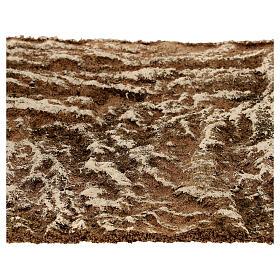 Pannello sughero presepe tipo corteccia naturale 33x25x1 cm s2