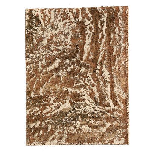 Pannello sughero presepe tipo corteccia naturale 33x25x1 cm 1