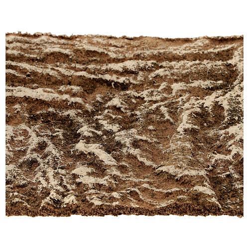 Pannello sughero presepe tipo corteccia naturale 33x25x1 cm 2