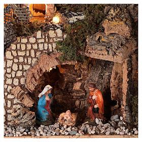 Mountain nativity village mill lighted 6 cm nativity 30x15x20 s2