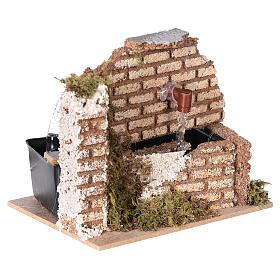Miniature fountain cork wall nativity 8-10 cm 10x15x10 cm s3