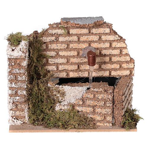 Miniature fountain cork wall nativity 8-10 cm 10x15x10 cm 1