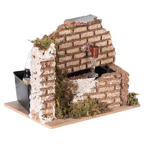 Miniature fountain cork wall nativity 8-10 cm 10x15x10 cm 3