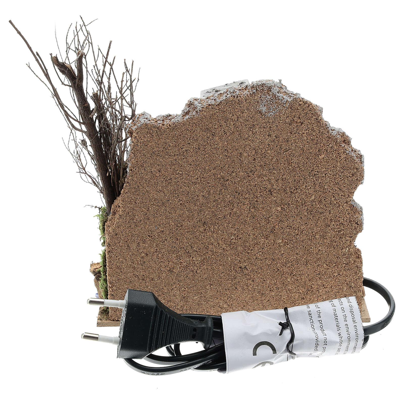 Open brick oven FLICKERING FLAME EFFECT bulb 15x15x10 cm nativity 10-12 cm 4