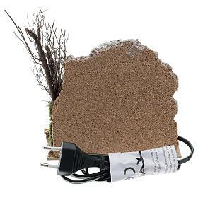Open brick oven FLICKERING FLAME EFFECT bulb 15x15x10 cm nativity 10-12 cm s4