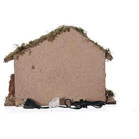 Cabane avec four 35x15x25 cm crèche 10 cm s6