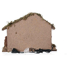 Stable with oven 35x15x25 cm for Nativity scenes with 10 cm figurines s6