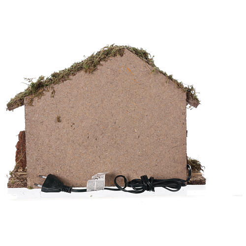 Stable with oven 35x15x25 cm for Nativity scenes with 10 cm figurines 6