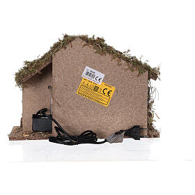 Stable with fountain 35x15x25 cm for Nativity scenes with 10 cm figurines s6