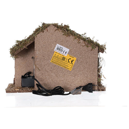 Stable with fountain 35x15x25 cm for Nativity scenes with 10 cm figurines 6