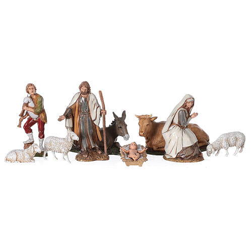 Stable with fence and trees 55x25x20 cm for Nativity scenes with 10 cm figurines 3