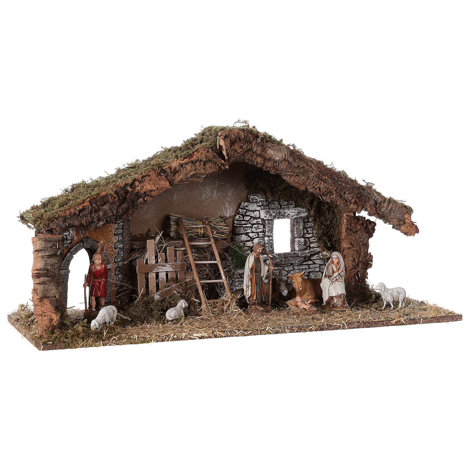 Barn with arch 55x20x25 cm for Nativity scenes with 10 cm figurines 4