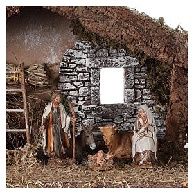 Barn with arch 55x20x25 cm for Nativity scenes with 10 cm figurines s2