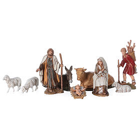 Barn with arch 55x20x25 cm for Nativity scenes with 10 cm figurines s3