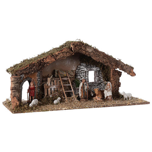 Barn with arch 55x20x25 cm for Nativity scenes with 10 cm figurines 5