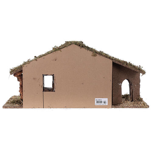 Barn with arch 55x20x25 cm for Nativity scenes with 10 cm figurines 7