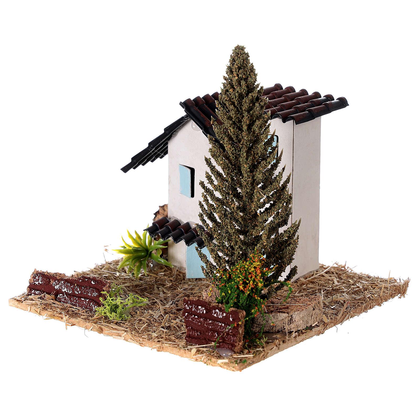Casas em miniatura estilo provençal para presépio 13x13x13 cm 4